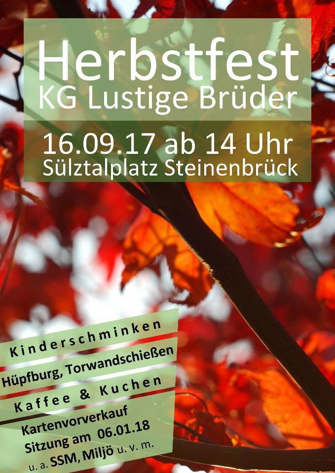 Kg Lustige Bruder Steinenbruck 1923 E V Herbstfest 2017